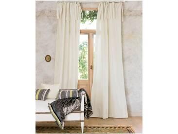 Vorhang perlweiß - Faux Silk 2.0 - 325cm x 135cm - Weiß - Vorhang: 100 % Faux Silk / Abfütterung: 100 % Baumwolle