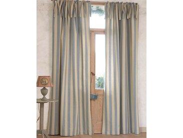 Vorhang Landhaus - 285cm x 145cm - Beige/Blau/Creme - 100% Baumwolle