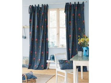 Vorhang Printemps - 325cm x 140cm - Rot/Blau/Lila - 100 % Baumwolle