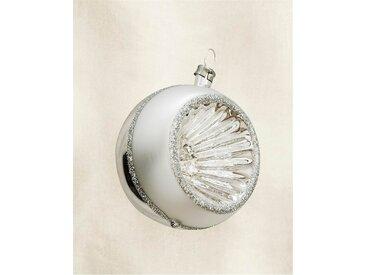 Weihnachtsschmuck Kugel mit Glitzer - one size - bunt - Glas