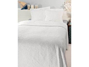 Piquedecke Renascena - 260cm x 180cm - Weiß - 100% Baumwolle