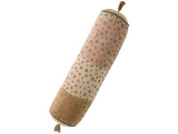 Samtpolsterrolle Sterne - 17cm x 57cm - Nude/Natur - 100 % Baumwolle