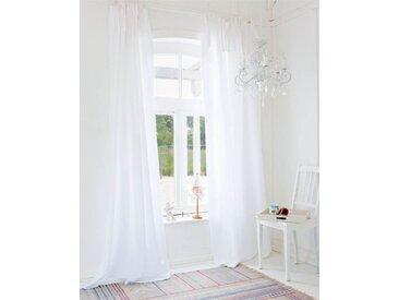 Vorhang Seaside - 325cm x 145cm - Weiß - 50% Baumwolle, 50% Leinen