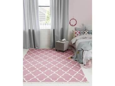 Teppich pink - 230cm x 160cm - Pink/Rosa - 80 % Wolle, 20 % Baumwolle