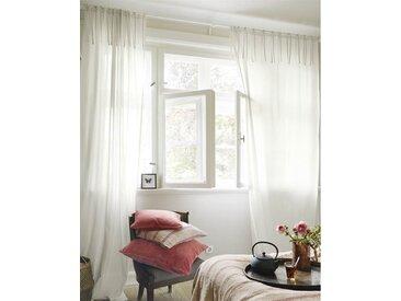 Voilevorhang lichtbeige - 285cm x 145cm - Beige/Grau/Offwhite - 100 % Baumwolle