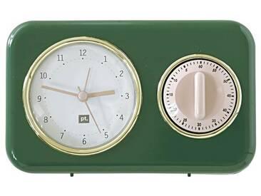 Küchenuhr dunkelgrün - Uni - Grün/Dunkelgrün - Kunststoff