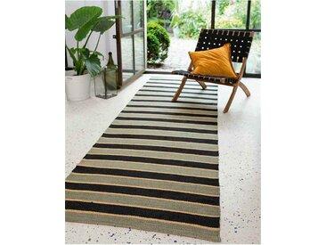 Teppichläufer Torino Stripe - one size - bunt - 90 % Jute, 10 % Baumwolle