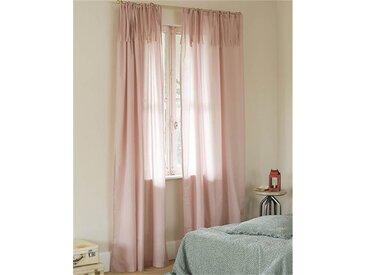 Voilevorhang rosa - 325cm x 145cm - Rosa - 100% Baumwolle