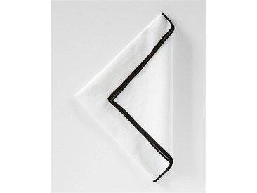 Serviette schwarz umsäumt - one size - bunt - 70 % Baumwolle, 30 % Leinen