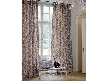 Vorhang Chinoiserie - 325cm x 145cm - Beige/Blau/Creme - 100 % Baumwolle