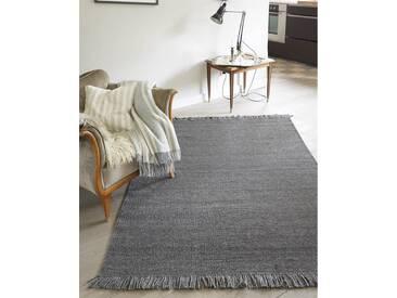 Teppich Finn - 200cm x 140cm - Grau - 60 % Viskose, 40 % Wolle