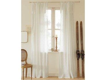 Vorhang Weiß auf Weiß - 285cm x 140cm - Weiß/Offwhite - 100 % Baumwolle