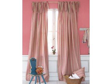 Streifenvorhang beige-pink - 285cm x 145cm - Beige/Pink - 100% Baumwolle