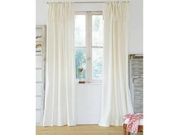 Vorhang Oxford - 285cm x 140cm - Weiß - 100 % Baumwolle