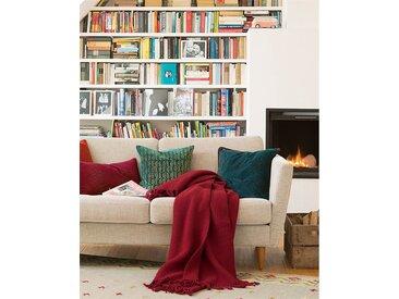 Wolldecke dunkelrot - 205cm x 140cm - Rot - 100 % Wolle