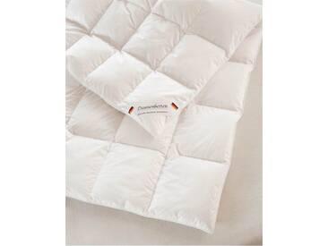 Ganzjahres-Federbett - 155 x 220 cm - bunt - 100% Baumwolle, weiße neue Daunen und Federn Klasse 1, 90% Daunen - 10% Federn, Qualitätstyp Europa