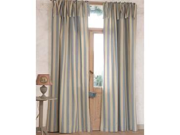 Vorhang Landhaus - 240cm x 145cm - Beige/Blau/Creme - 100% Baumwolle