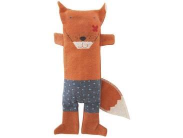 Spielzeugfuchs inkl. Decke - one size - Dunkelblau/Orange/Schwarz/Weiß - 95 % Baumwolle, 5 % Viskose