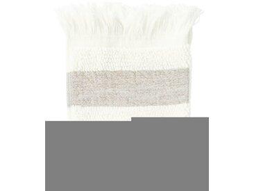 Waschlappen antikweiß - one size - Creme/Grau/Wollweiß - 95 % aus Baumwolle, 5 % Leinen