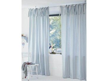 Vorhang Maritim - 240cm x 145cm - Hellblau/Weiß - 100 % Baumwolle