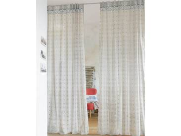 Vorhang Molnar - 285cm x 140cm - Blau/Grau/Weiß - 100 % Baumwolle