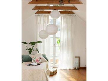 Leinenvorhang Weiß - 135 x 325 - bunt - 100 % Leinen