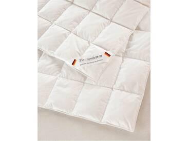 Ganzjahres-Federbett King-Size - one size - bunt - 100% Baumwolle, weiße neue Daunen und Federn Klasse 1, 90% Daunen - 10% Federn, Qualitätstyp Europa