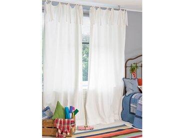 Satinvorhang - 240cm x 145cm - Weiß - 100% Baumwolle