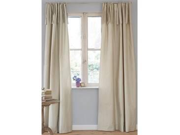 Vorhang silberbeige - 285cm x 135cm - Beige/Silber/Natur - Vorhang: 100 % Faux Silk, Abfütterung: 100 % Baumwolle