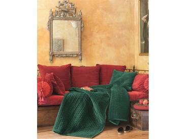 Samtquilt grün - 150 x 240 - bunt - 100 % Baumwolle