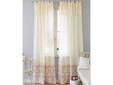Vorhang Lulu - 285cm x 112cm - Rot/Ecru - 100 % Baumwolle