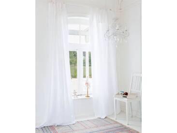 Vorhang Seaside - 240cm x 145cm - Weiß - 50% Baumwolle, 50% Leinen