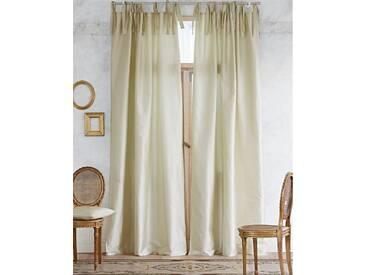 Vorhang Fiona - 325cm x 135cm - Grün/Creme - Vorhang: 100% Faux Silk, Abfütterung: 100% Baumwolle