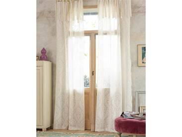 Vorhang Cutwork Rokoko - 240cm x 110cm - Creme/Ecru - 100% Baumwolle