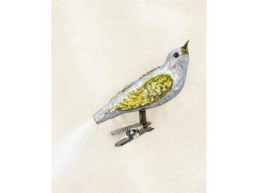 Weihnachtsschmuck Vogel mit grünem Flügel - one size - bunt - Glas