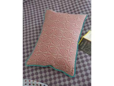 Kissenhülle Op-Art - 60cm x 40cm - Rot/Weiß/Türkis - 100% Baumwolle
