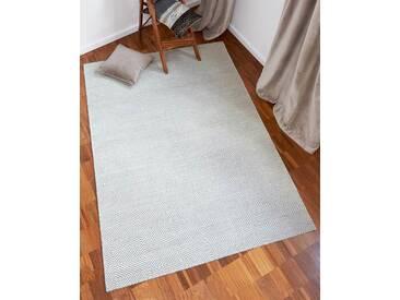 Teppich Diamant - 200cm x 140cm - Grau - 80 % Wolle, 20 % Baumwolle