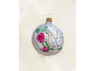Weihnachtsbaumschmuck Taube - one size - bunt - Glas