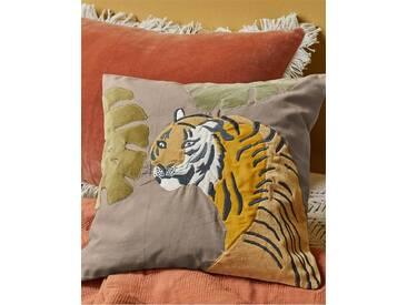 Kissenhülle Bengalischer Tiger - one size - bunt - 100 % Baumwolle