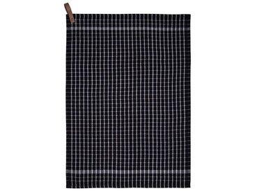 Södahl Simplicity Black / White Küchenhandtuch 50x70 cm