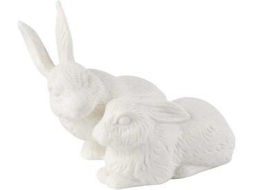 Villeroy & Boch Easter Bunnies Zwei Hasen - matt weiß 10x9x10 cm