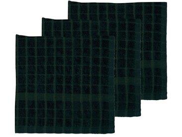 Södahl Simplicity Deep Green / Pine Green Spültuch 30x30 cm Set 3-tlg.