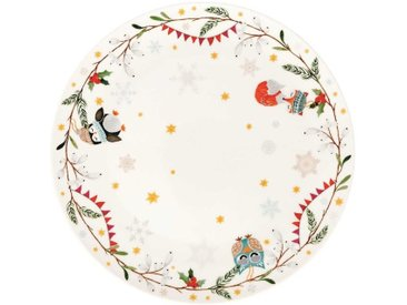 Hutschenreuther Sammelserie Weihnachtslied 2019 Teller flach 'Schneeflöckchen, Weißröckchen' 22 cm