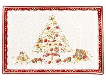 Villeroy & Boch Winter Bakery Delight Gebäckplatte rechteckig groß - Baum 39x26,5 cm