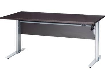 Schreibtisch Prima höhenverstellbar elektrisch ergonomisch 150cm Dunkelbraun Kaffee