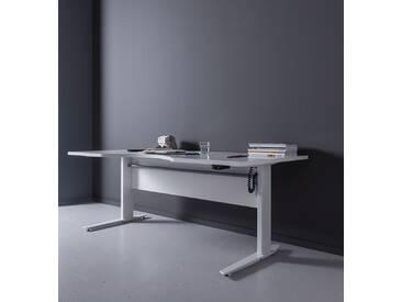 Schreibtisch Prima höhenverstellbar elektrisch ergonomisch 180cm Weiß Weiß