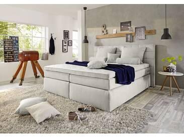 Funktionspolsterbett IDAHO 1 Boxspringbett Doppelbett Polsterbett Schlafzimmer 180 x 200 cm silber hellgrau