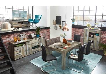 Essgruppe Sideboard BONANZA Tischgruppe Esstisch Bank Esszimmer Kombination shabby retro vintage
