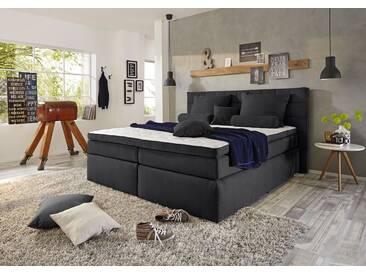 Funktionspolsterbett IDAHO 1 Boxspringbett Doppelbett Polsterbett Schlafzimmer 140 x 200 cm schwarz