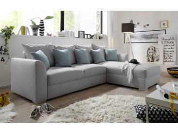 Couch LILLY Sofa Eckcouch Ecksofa Schlafsofa Wohnlandschaft Polsterecke L-Form 284cm hellgrau